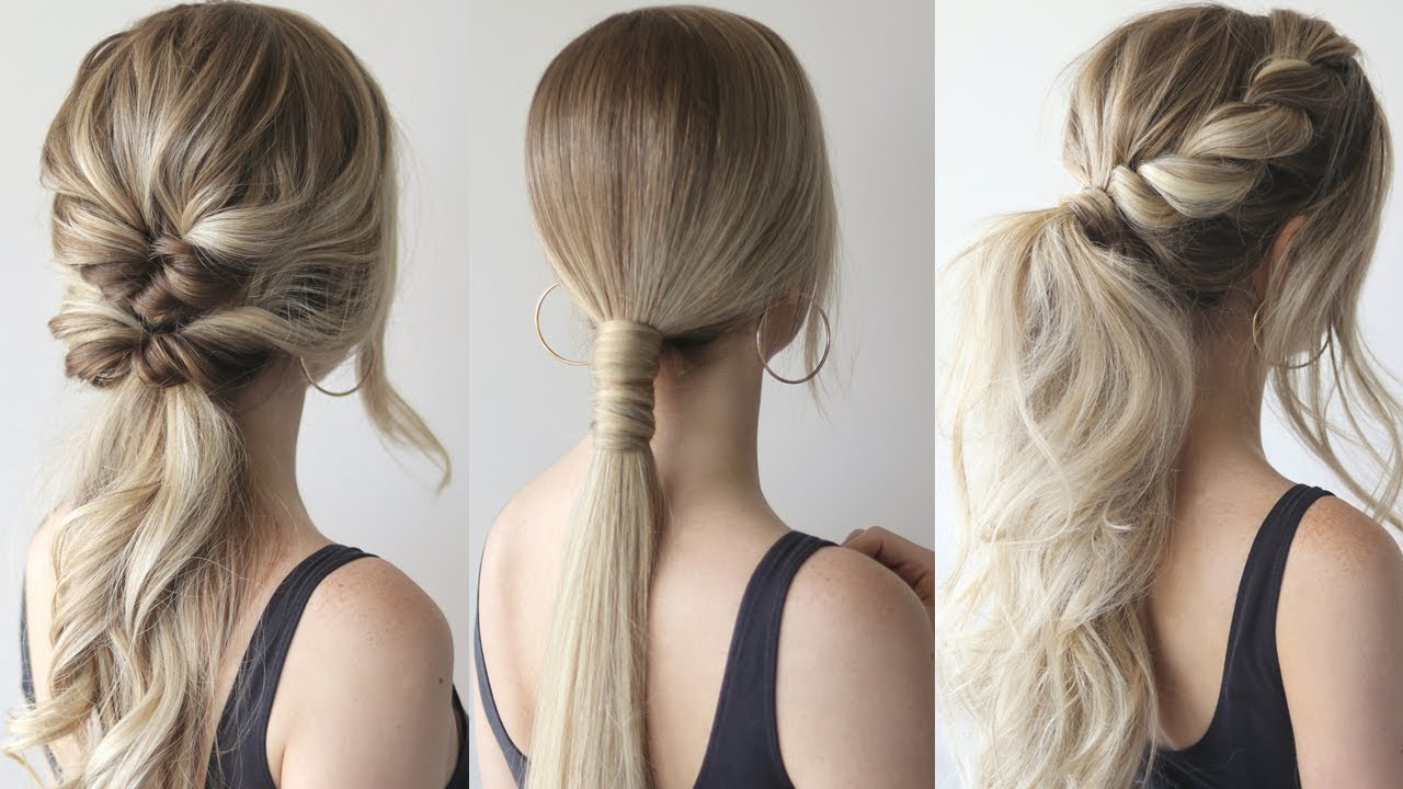 Hair Tutorial | 7 Quick & Easy Stylish Ponytails For Work ...